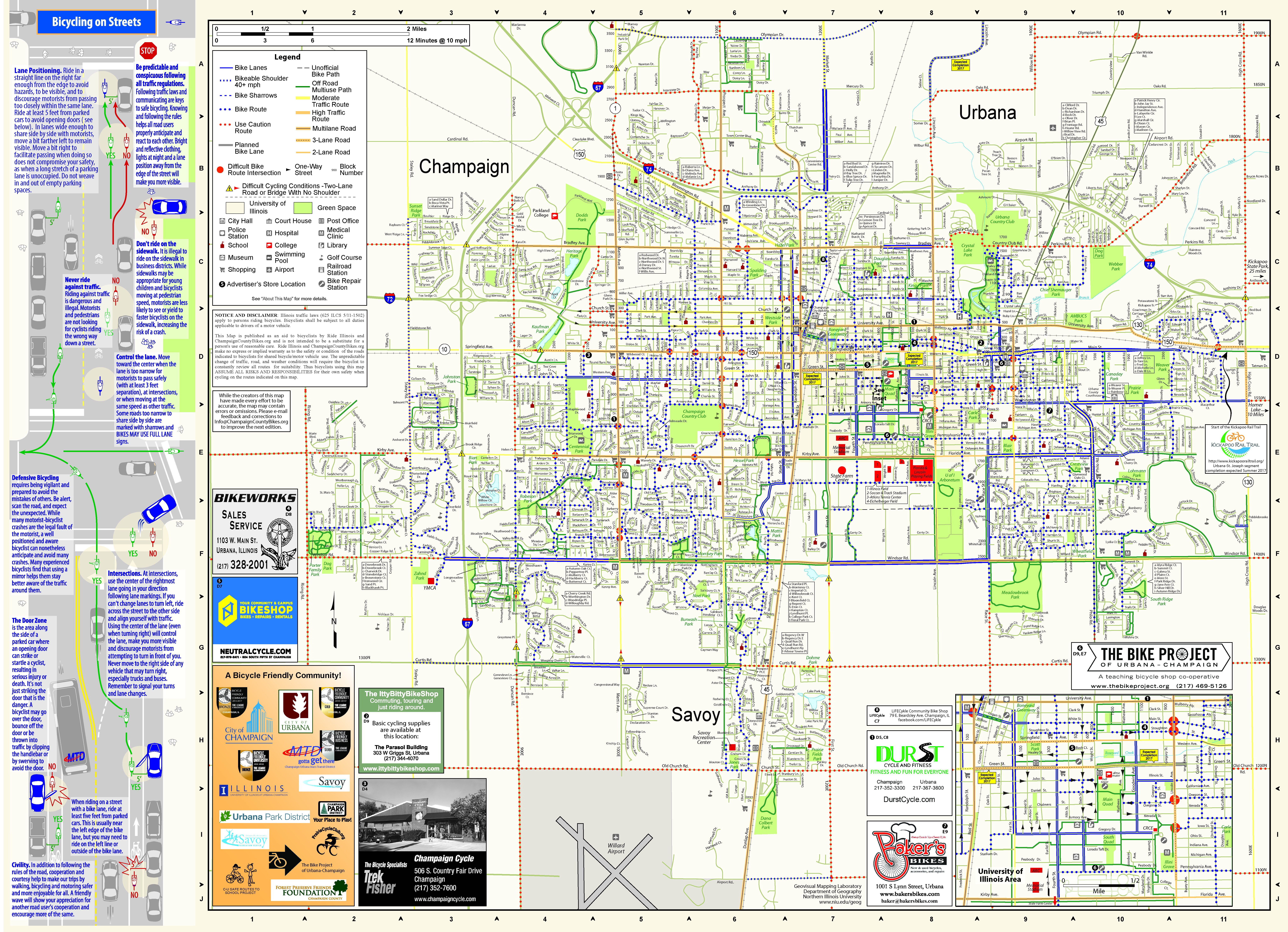 Map Of Champaign Il Maps | Champaign County Bikes Map Of Champaign Il